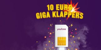 Youfone 10 euro giga klappers