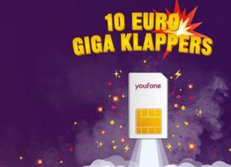 Youfone 10 euro giga klappers